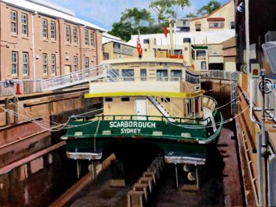 """Scarborough"" in the Balmain Dry Dock"