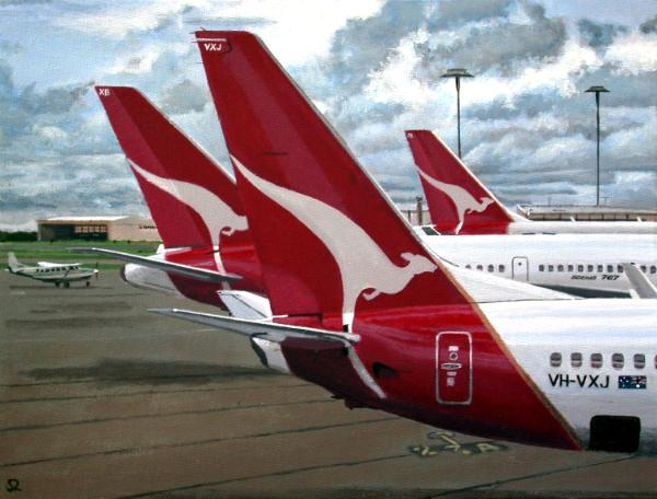 Qantas Tails at Brisbane Airport