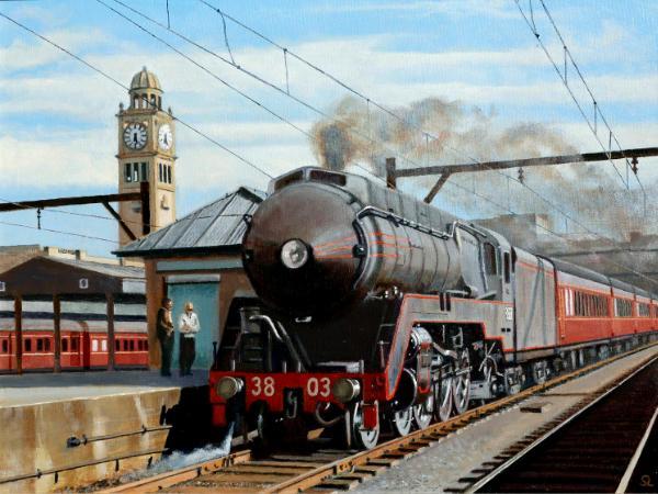 Locomotive 3803 at Sydney Terminal