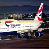 British Airways Boeing 747-400 at LAX