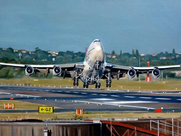 Qantas Boeing 747-400 Sydney Departure