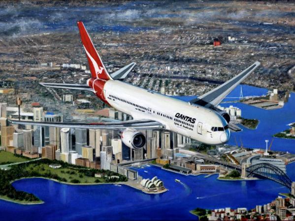 Morning Departure Qantas Boeing 767