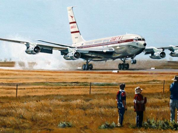 VH-XBA's Longreach Landing