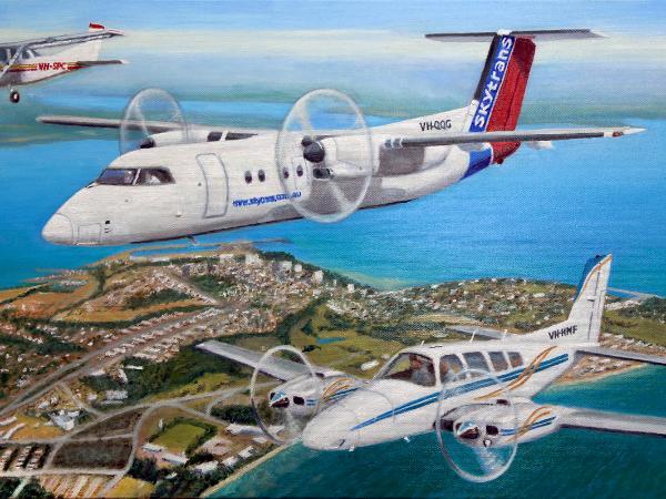 Aircraft trio over Darwin