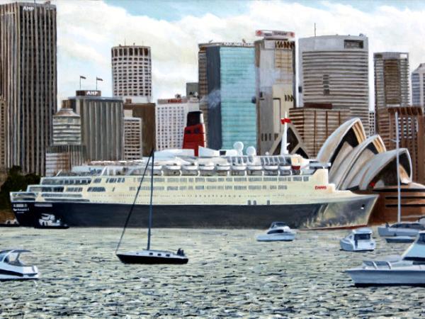 Final Visit of QE2 to Sydney