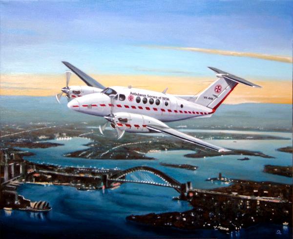 Kingair over Sydney