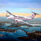 Kingair over Sydney