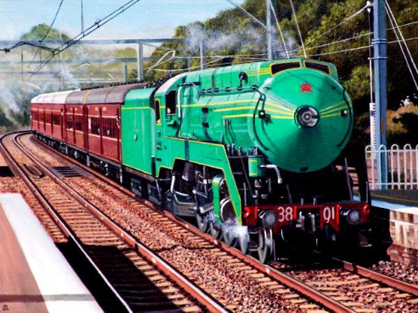 Locomotive 3801 at Banksia