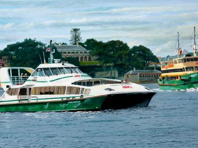Ferries off Kirribilli