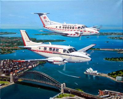 Air Ambulance Kingair and Queenair Aircraft