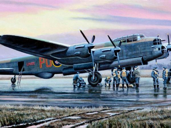 Avro Lancaster Quot B Quot For Baker Steve Leadenham Transport Art