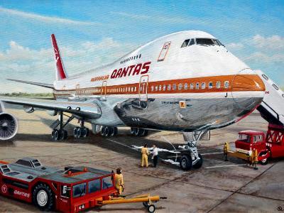 Qantas Boeing 747-238 VH-EBJ