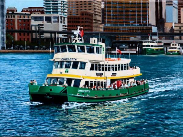 """Charlotte"" departs Circular Quay"