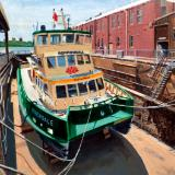 """Borrowdale"" in the Balmain Shipyard Dry Dock"